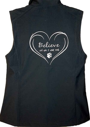 Ladies Believe Vest Back