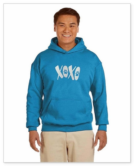 XOXO Unisex Sized Hooded Sweat Turquoise