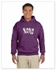 XOXO Unisex Sized Hooded Sweat Plum
